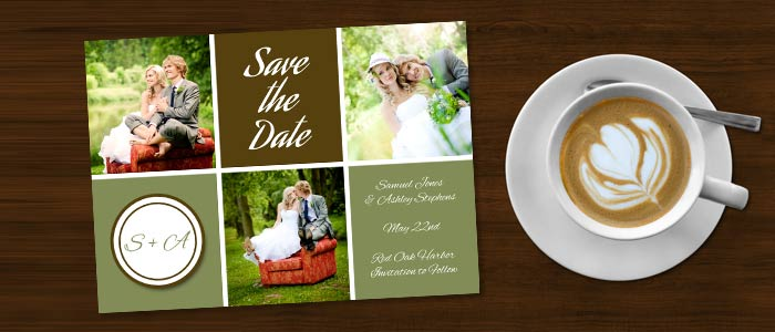 Create a custom save the date card announcing your special day with MailPix personalized cards