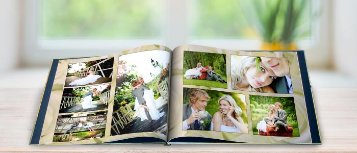 Create a custom photo album of your special wedding day with MailPix Photo Books