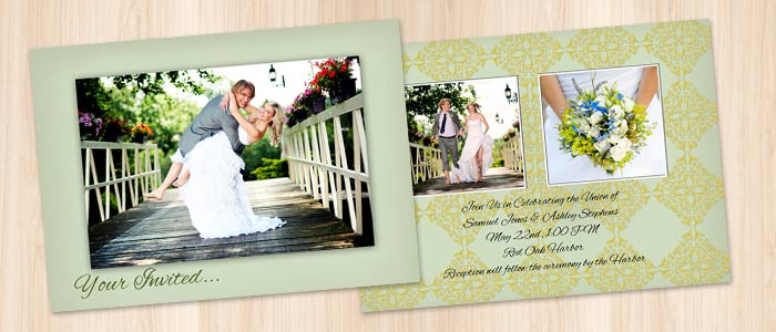 Create your own wedding invitations and save money with MailPix