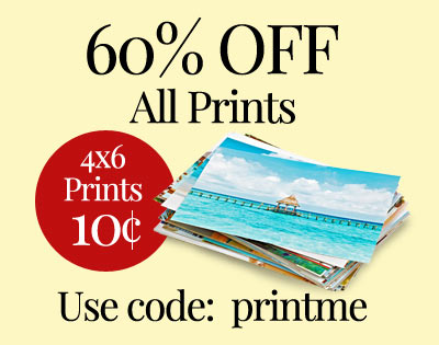 10 cent print sale with 60% off photo prints