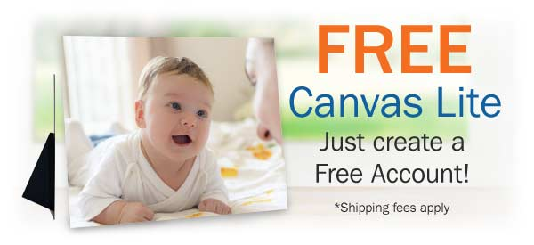 Free Canvas Lites Print when you Join MailPix