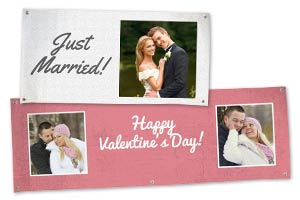 Design your own personalized banner online with photos, logos, text and a variety of templates.