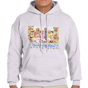 Custom Printed Ash Grey Hooded Sweatshirt Selection