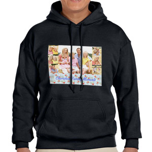 Custom Printed Black Hooded Sweatshirt Selection