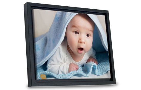 Perfect for any décor, our floating frame canvas will elegantly display any photo.
