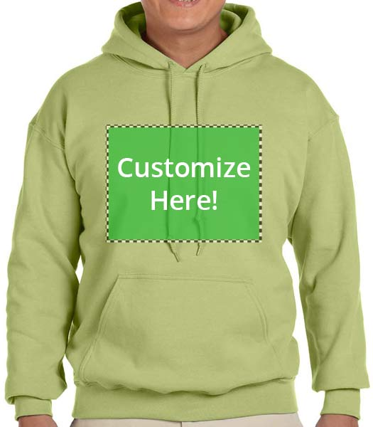 Personalized Kiwi Green Hooded Sweatshirt