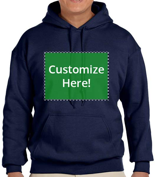 Personalized Navy Hooded Sweatshirt