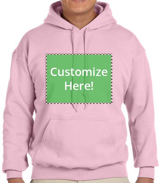 Personalized Pink Color Hooded Sweatshirt