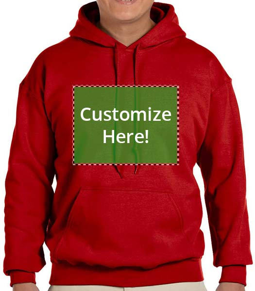 Personalized Deep Red Sweatshirt