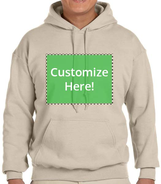 Personalized chocolate hooded sweatshirt