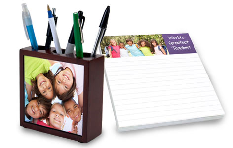 Create a gift for your Teacher, many school and office gifts available