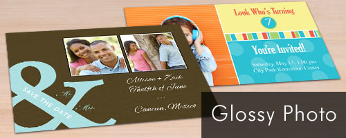 Printed on glossy photo paper, our classic photo cards are perfect for any holiday or occasion.