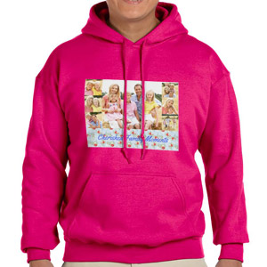 Custom Printed Heliconia Hooded Sweatshirt Selection