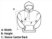 Measuring your Personalized hooded sweatshirt