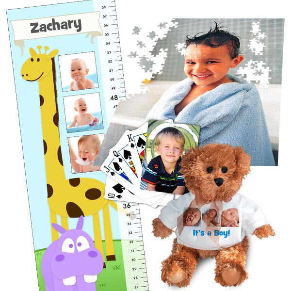 Custom Growth Charts and Personalized Games to bring smiles to your kids faces.