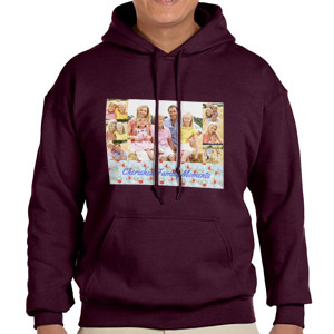 Custom Printed Maroon Hooded Sweatshirt Selection