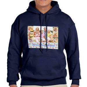 Custom Printed Navy Blue Hooded Sweatshirt Selection