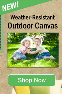 All weather UV protected outdoor canvas prints available