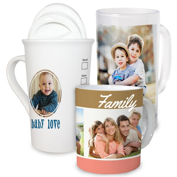 Transform any beverage into a walk down memory lane with our custom printed mugs and drinkware.