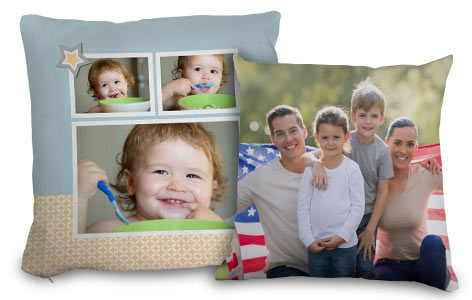 Jazz up your living room seating area or bedroom with our variety of personalized photo pillows.