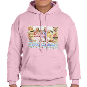 Custom Printed Pink Hooded Sweatshirt Selection
