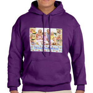 Custom Printed Purple Hooded Sweatshirt Selection