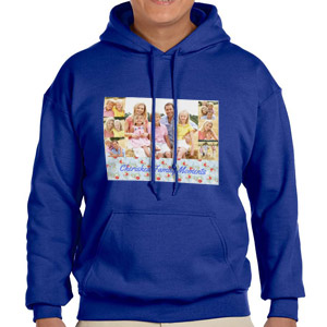 Custom Printed Royal Blue Hooded Sweatshirt Selection