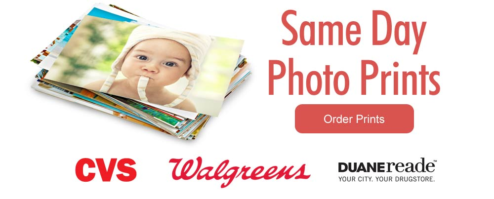 Order 1 Hour photo prints, pick them up same day