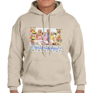Custom Printed Sand Hooded Sweatshirt Selection