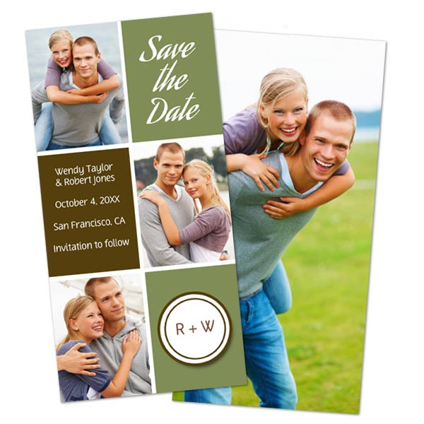 Create an amazing holiday card with photos and text on both sides