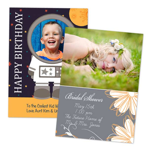 Send your Christmas cards with MailPix Holiday greeting cards available in multiple sizes