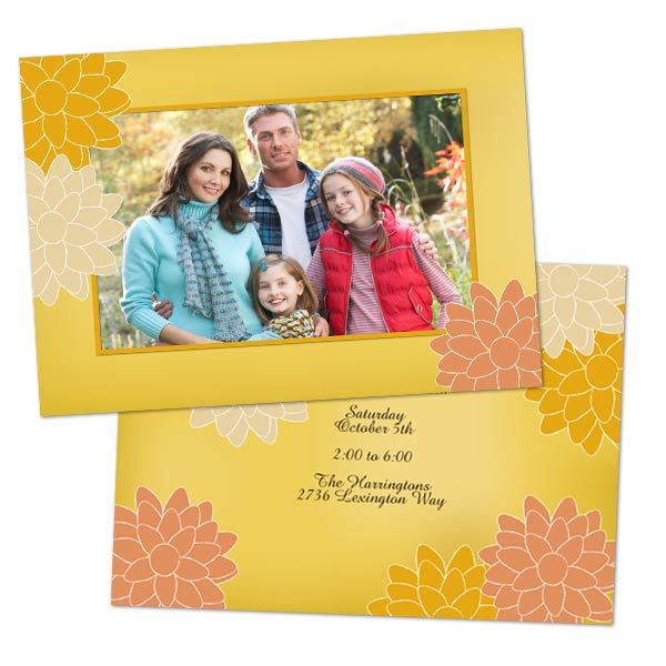 Customize the front and back of your Christmas card with our 5x7 double sided stock cards