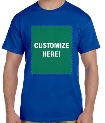 Personalized Blue T-Shirt