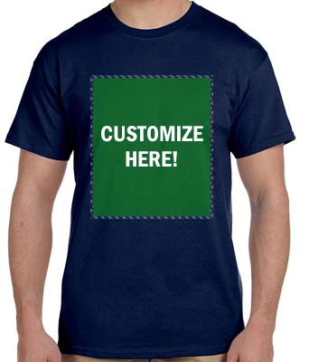 Personalized Navy T-Shirt