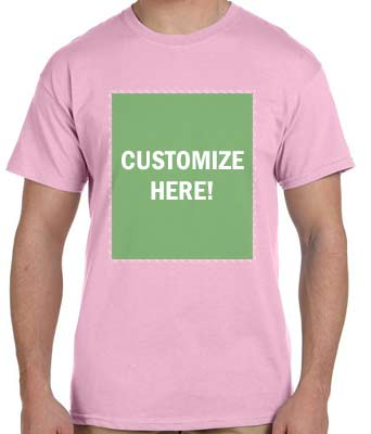 Personalized Light Pink T-Shirt