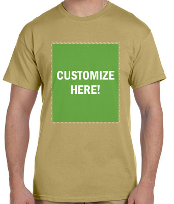 Personalized Tan T-Shirt