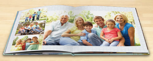 Personalize your own coffee table books with premium lay flat photo books from MailPix