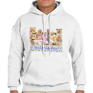Custom Printed White Hooded Sweatshirt Selection