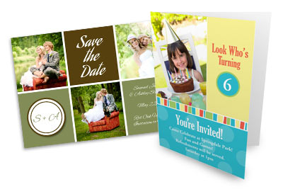 Create unique, personalized greetings, stationery, and invitations with your prized photos.