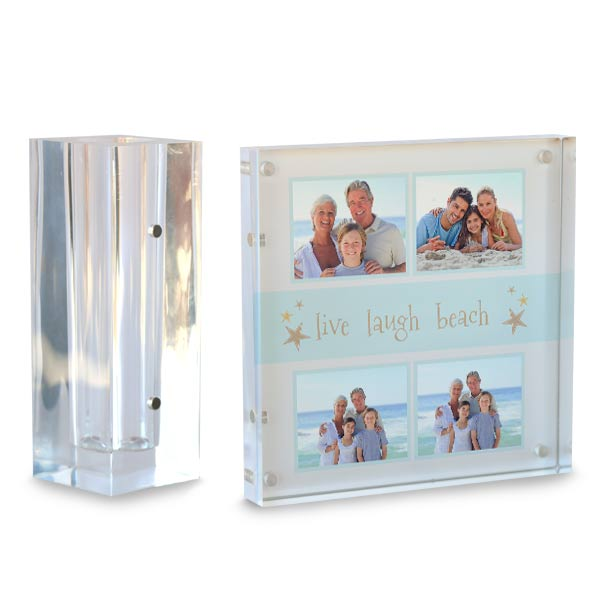 Organize your pens and pencils with a custom photo art desk set made of premium acrylic