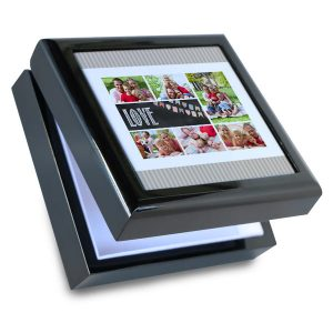 Personalize your own keepsake box with a heartwarming photo and store your valuables away in elegance.