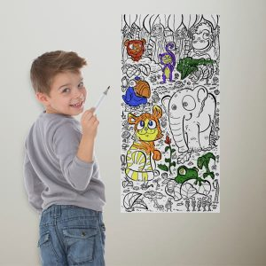 Color your space with coloring wallpaper perfect for children