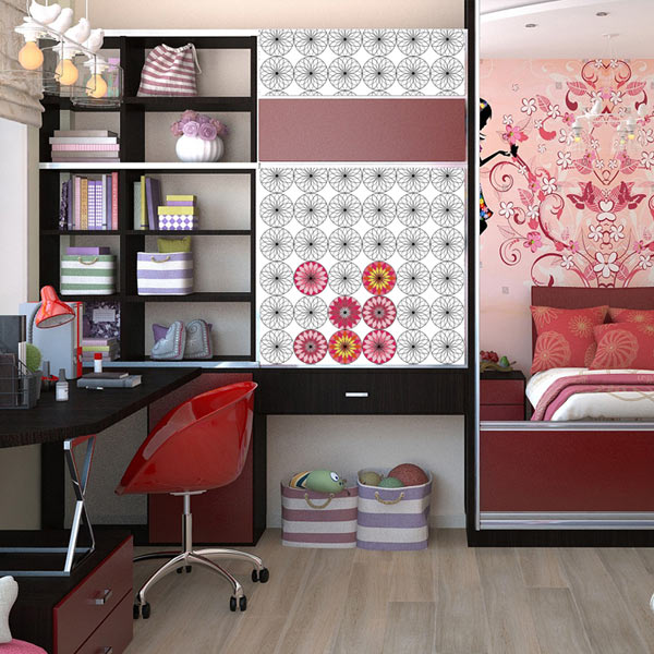 Accent your wall with coloring wallpaper and stay busy coloring your way