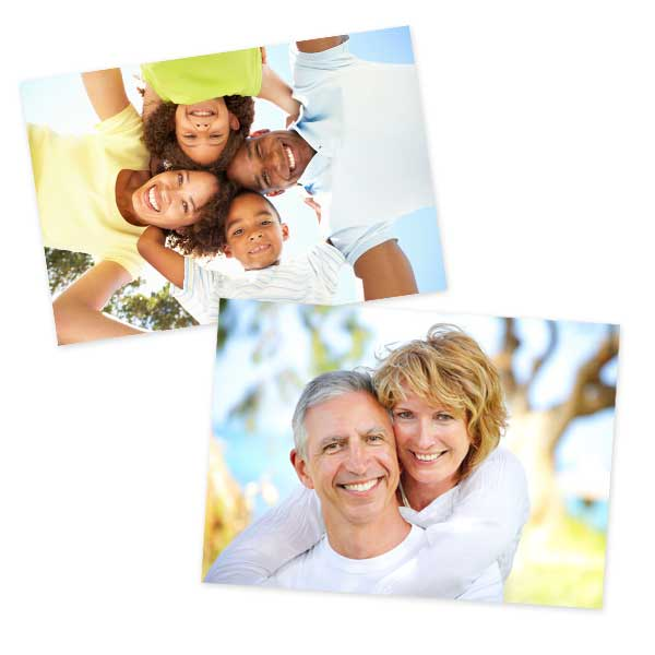Our 6x8 print size is perfect for printing your favorite digital mobile photos.