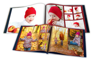 Personalized Photo Albums with Professionally printed pages and custom text