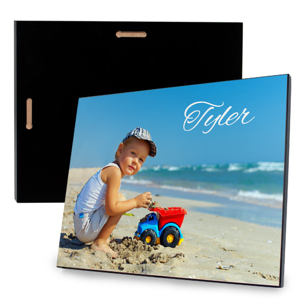 Add a modern touch to your decor with our custom printed photo plaque.