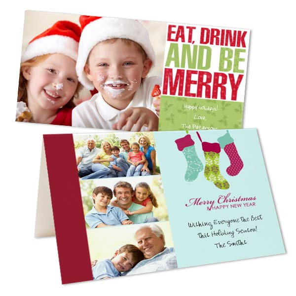 Cheap photo Christmas Cards are great for captured family photos this season.