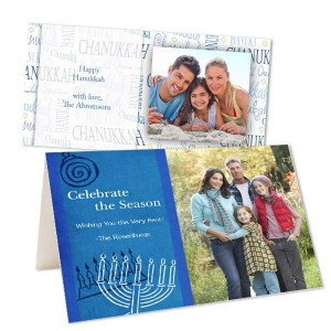 Create the perfect Chanukkah greeting this year with our fully customized photo greeting cards.