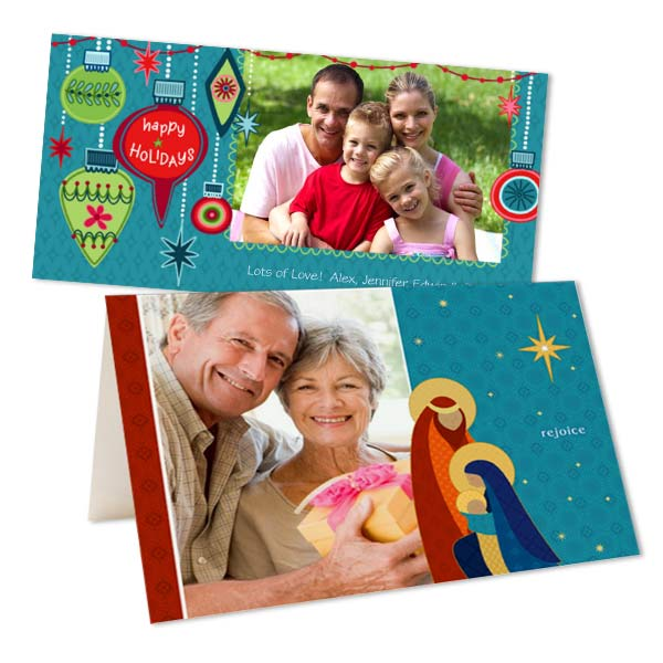 Create your own holiday photo cards and spread your holiday cheer with a customized greeting.