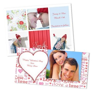 Create a romantic Valentine's Day greeting by using one of your favorite couples photos.